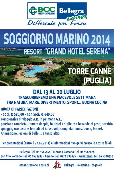 Soggiorno marino 2014 bcc bellegra for Soggiorno merano